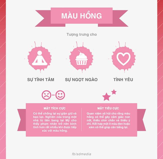 Quan niệm xã hội cho rằng màu hồng có thể gây ra cảm giác non nớt, thiếu chính chắn và thiếu ý chí.