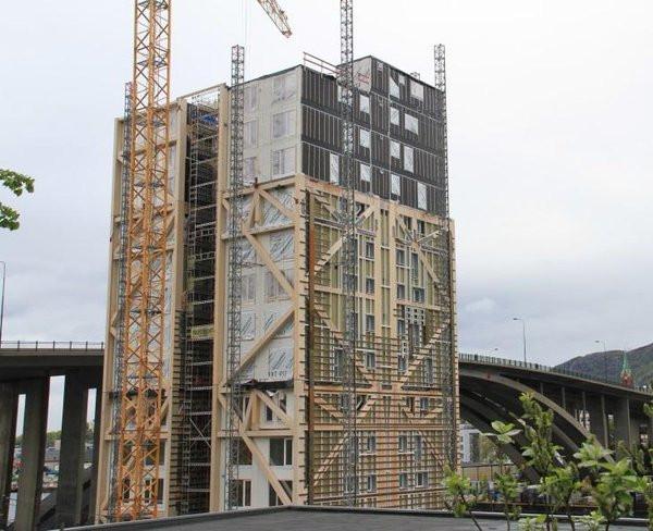 Tòa nhà gỗ 14 tầng tại Norway.