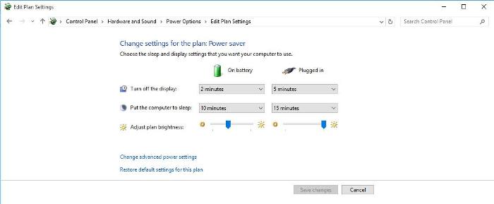 Chế độ tiết kiệm pin trên laptop