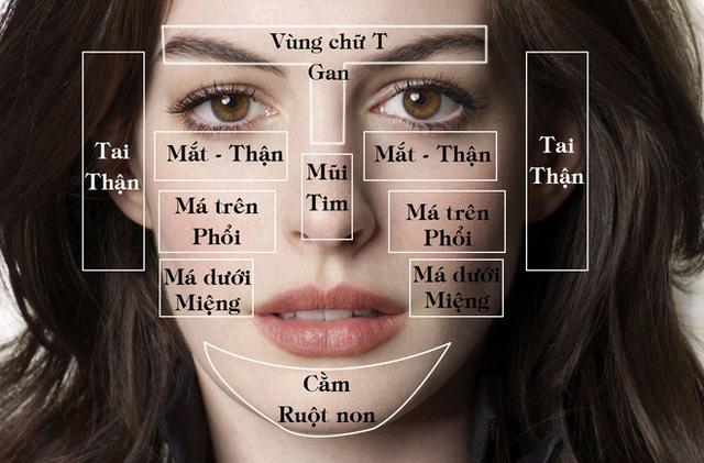 Mụn mọc ở những điểm này trên mặt, có nghĩa là các bộ phận tương ứng trong cơ thể bạn đang gặp vấn đề.