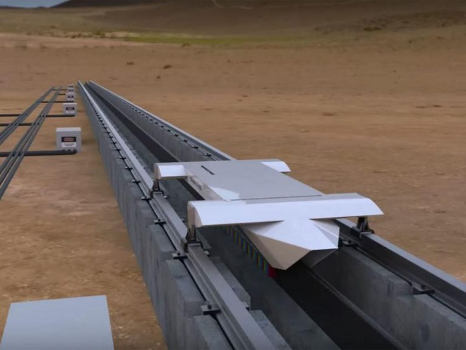 Đường ray và khoang chuyển động thử nghiệm của hệ thống