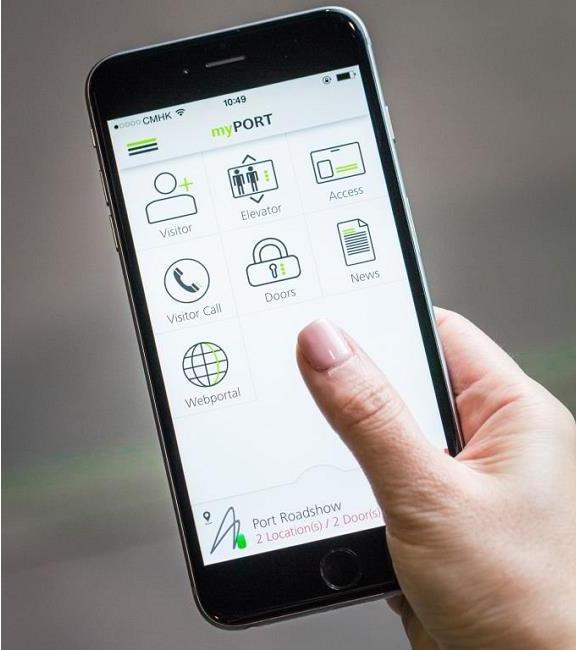 MyPORT còn có thể dự đoán thời gian mà người dùng cụ thể thường đến và họ đi lên tầng nào.