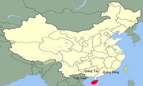 Đảo Hải Nam (màu đỏ) từng liền với Việt Nam vào thời Đại Trung sinh