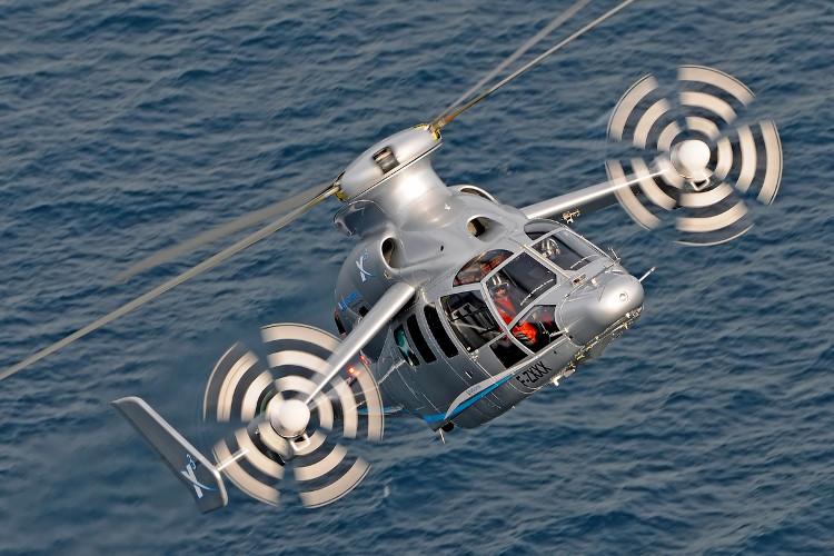 Eurocopter X3 không cần tới rô-tơ ở đuôi, vốn là đặc tính bắt buộc của bất cứ chiếc trực thăng nào.