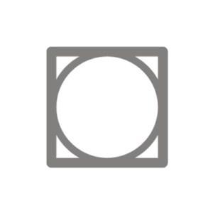 Biểu tượng Sấy Khô: Biểu tượng sấy khô cơ bản gồm một ô vuông và một vòng tròn bên trong.