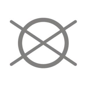 Không giặt khô: Ký hiệu này bao gồm một vòng tròn với hai đường kẻ chéo
