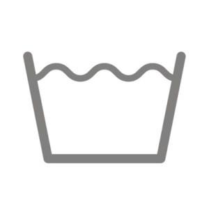 Biểu tượng Giặt: được thể hiện qua hình một chiếc chậu đựng đầy nước.