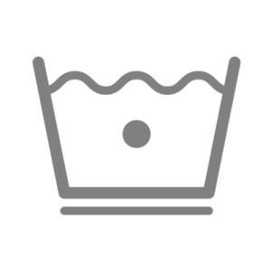 Biểu tượng chống nhăn được thể hiện qua một đường kẻ gạch dưới biểu tượng giặt bình thường.