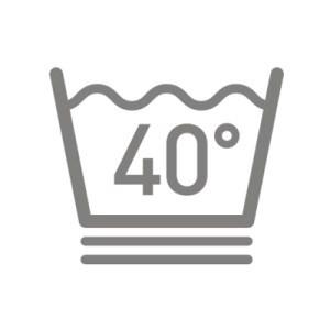 Biểu tượng quay nhẹ nhàng có hai đường kẻ gạch dưới biểu tượng giặt chuẩn.
