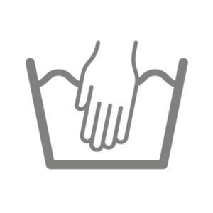 Ký hiệu giặt tay gồm có ký hiệu Giặt chuẩn và một bàn tay đặc trong chậu nước