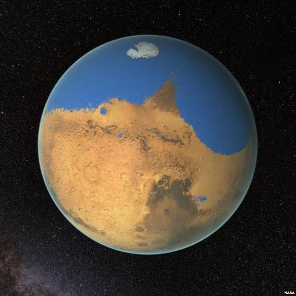 Sao Hỏa hiện nay đã được chứng minh có nước dạng lỏng chảy trên đó.