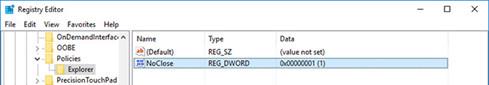Gán giá trị cho DWORD mới là 1 trước khi lưu và khởi động lại hệ thống