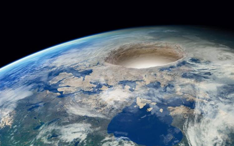 Cận cảnh lỗ hổng trên bề mặt Trái Đất.