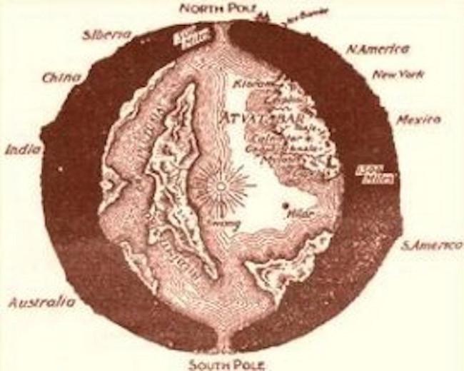 North Pole - giả thuyết về con đường dẫn đến tâm Trái Đất đã có từ lâu trong lịch sử.