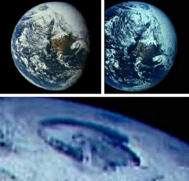 Các hình ảnh chứng minh khu vực Bắc Cực có tồn tại một vùng hổng lớn.