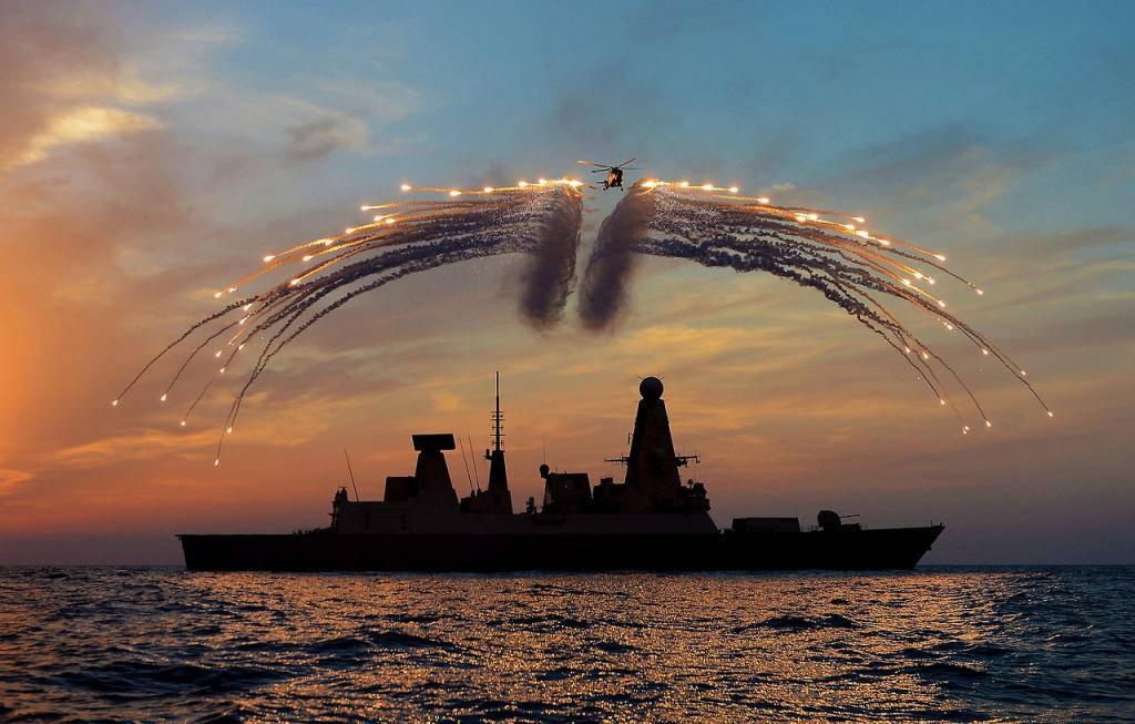 Trong một buổi lễ của Hải quân Hoàng gia Anh.