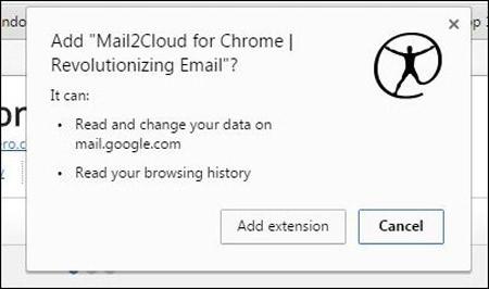 Click vào nút Add to Chrome (Thêm vào Chrome) và sau đó là click vào nút Add extension (Thêm tiện ích).