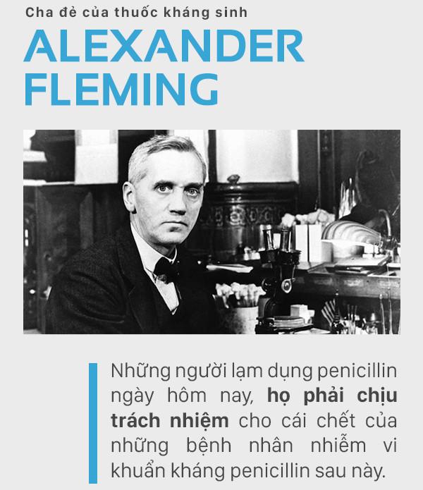 Alexander Fleming - người đã tìm ra thuốc kháng sinh Penicillin.