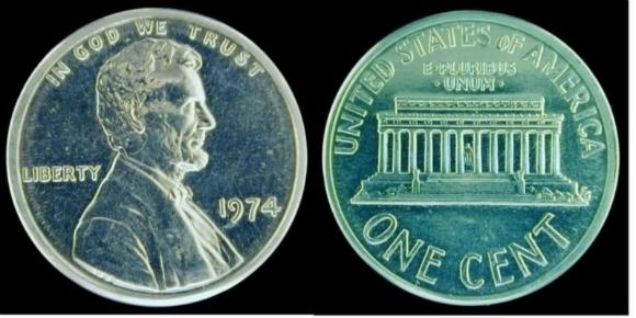 Đồng xu nhôm 1974