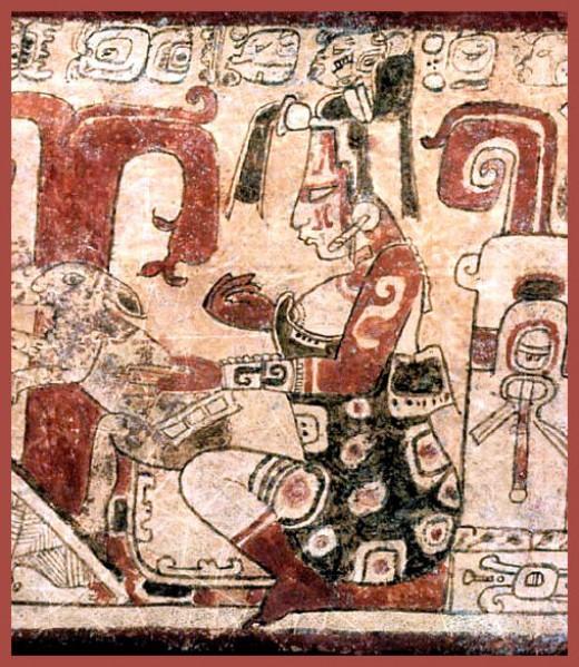 Hình vẽ Nữ thần Mặt trăng của người Maya.