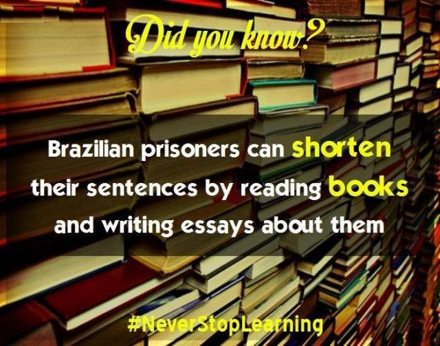 Tù nhân Brazil có thể rút ngắn bản án của mình bằng cách đọc sách và viết tiểu luận về chúng.