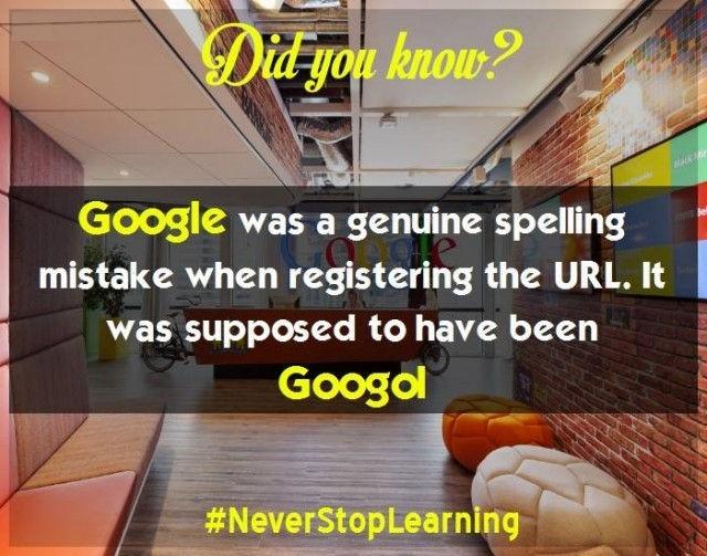 6. Google thực sự là một lỗi chính tả khi đăng ký tên miền, từ gốc là Googol.