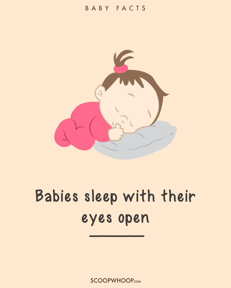 Trẻ sơ sinh có thể ngủ với một đôi mắt vẫn mở.