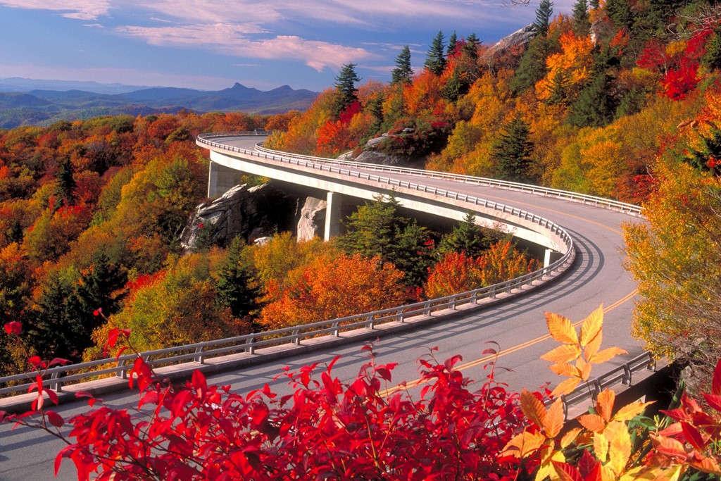 Đường Blue Ridge, Carolinas và Virginia