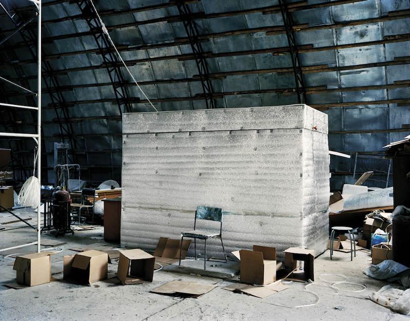 Buồng chứa lưu trữ tạm thời ở cơ sở KrioRus tại Alabushevo, Moscow, Nga vào tháng 9/2010.