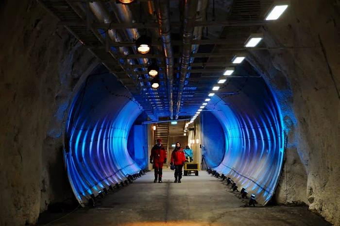 Căn hầm được bảo vệ bởi hàng nghìn km đường biển và gấu trắng Bắc Cực