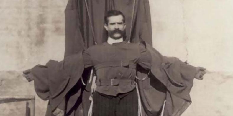 Franz Reichelt - thợ may người Áo tin rằng bản thân tìm ra cách giúp con người bay. Do đó, năm 1912, ông đã nhảy từ tháp Eiffel xuống để chứng minh mình có thể bay nhưng ông đã chết ngay tức khắc.