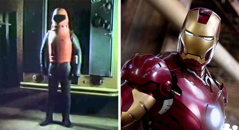 Bạn có tưởng tượng nổi hình bên trái là Iron Man của năm 1977 không?