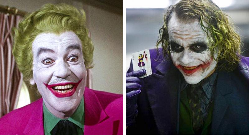 Có vẻ Joker phiên bản năm 2008 gian ác, ma quái hơn Joker năm 1966.