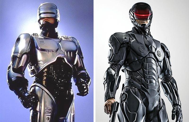 Robocop phiên bản năm 1987 và 2014.