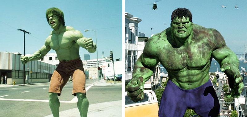 Sự khác biệt quá rõ ràng giữa Hulk của năm 1978 và 2014.