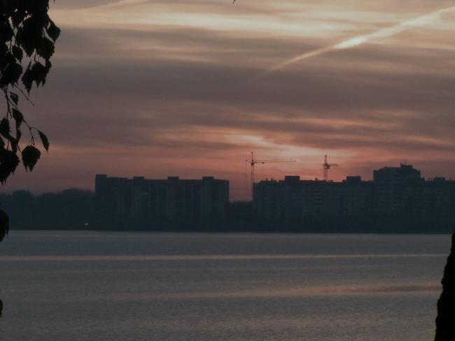 Các tòa nhà của thành phố hạt nhân Ozersk.
