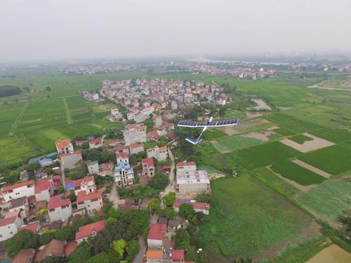 Solar UAV trong một lần thử nghiệm, có trần bay 300m.
