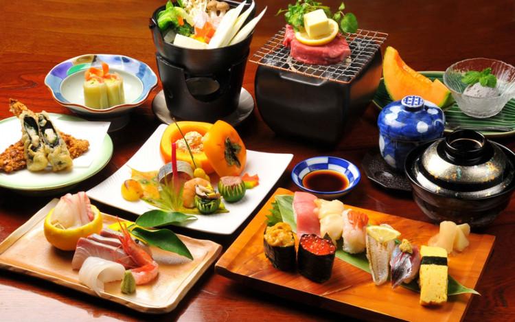 Người Nhật Bản không uống bất kỳ chất lỏng nào khi ăn.