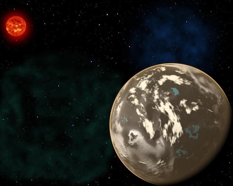 Hình minh họa một hành tinh kim cương xoay quanh ngôi sao giống Mặt Trời.