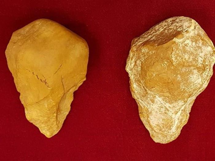 Mảnh tước được phát hiện ở xã An Khê, Gia Lai.