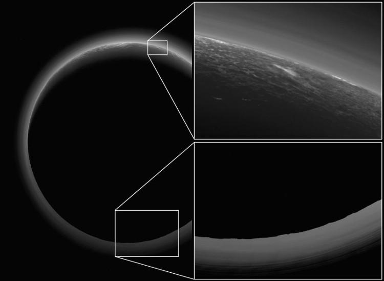 Hình ảnh cho thấy một bóng đen và quầng ánh sáng trắng khá mỏng bao bọc xung quanh.