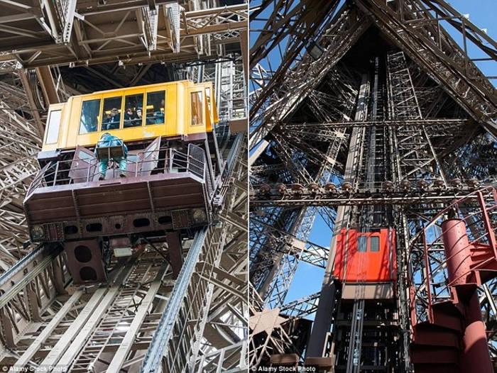 Thang máy tháp Eiffel, Paris, Pháp