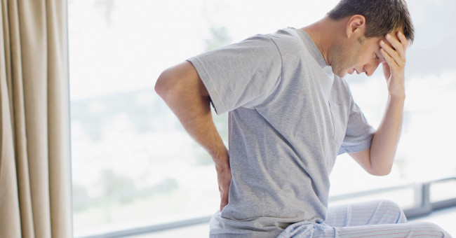 Why back pain when waking up?