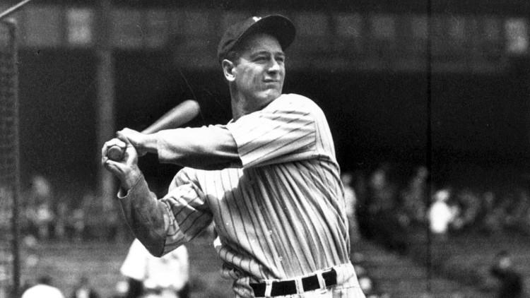 Gehrig trên sân bóng.
