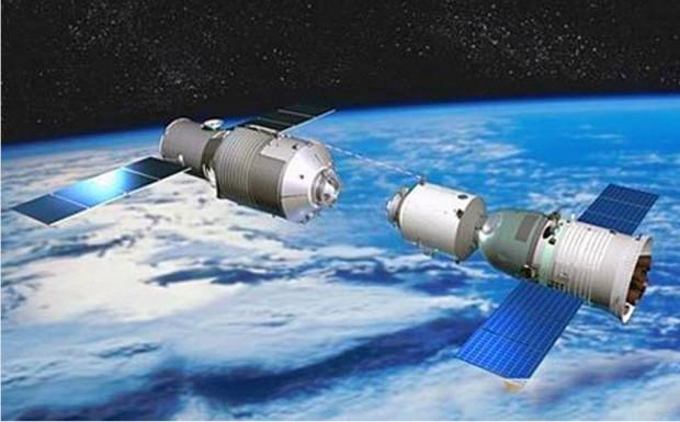 Trạm Thiên Cung 1 trên quỹ đạo Trái Đất.