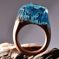 Những chiếc nhẫn gỗ thu cả thế giới vào trong