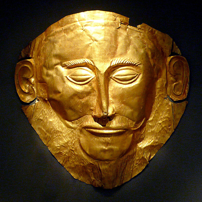 Chiếc mặt nạ được cho thuộc về vua Agamemnon.