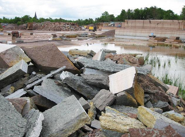 Mỏ đá vôi tại Thụy Điển - nơi mảnh thiên thạch được tìm thấy.