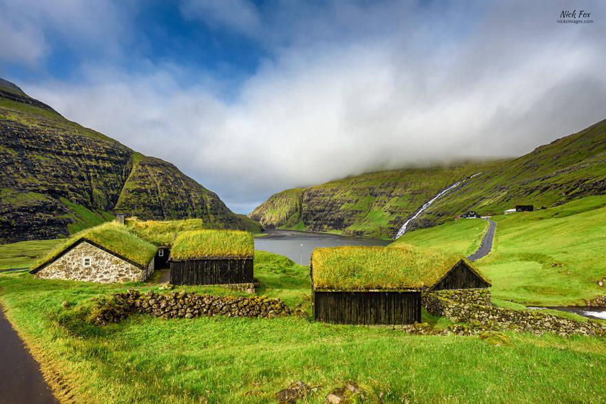 Làng Saksun, Streymoy, Quần đảo Faroe.