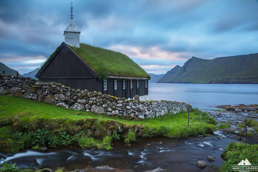 Nhà thờ ở Funningur, Quần đảo Faroe